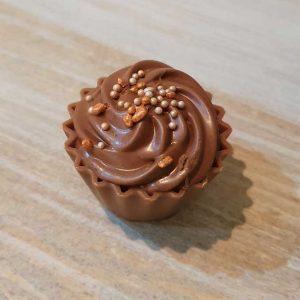 Dark Chocolate Sparkle Cupcake
