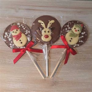 Large Christmas Chocolate Lollipops (various)