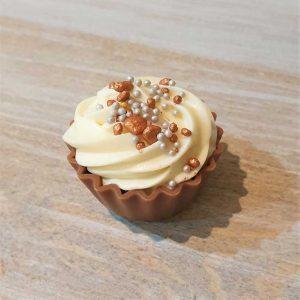 Praline Sparkle Cupcake