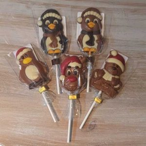 Small Christmas Chocolate Lollipops (various)