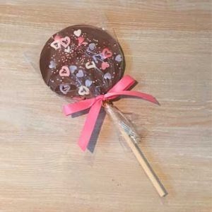 Large Heart Sprinkles Lollipop