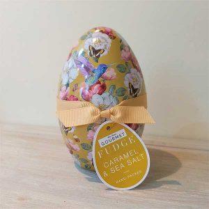 Salted Caramel Fudge Easter Egg