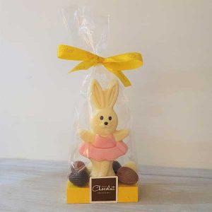 white chocolate ballerina bunny